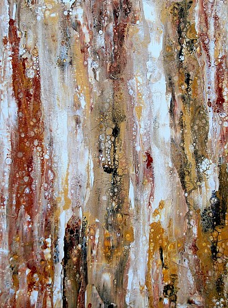 Traces of wood painted by Marion Buijink