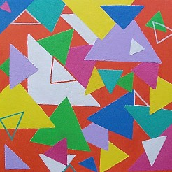 Abstract geometrisch spel 1 painted by