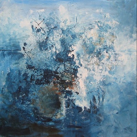 Blue motion painted by Gerda Kwakkel