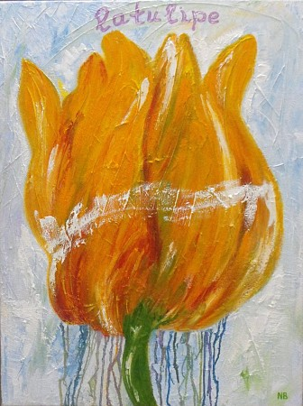 Tulp painted by Nelly Biessen