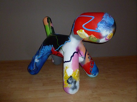 Pup Art  XL painted by Marten Alkema