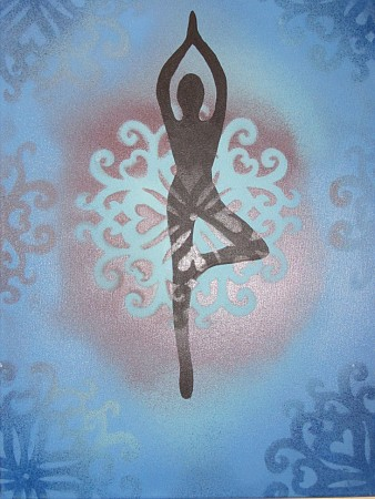 Yoga art 6 painted by Marianne Klaassen