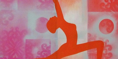 Yoga art 8 painted by Marianne Klaassen