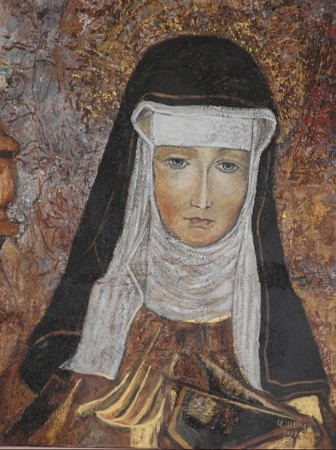Hildegard van Bingen painted by Vera Wilting