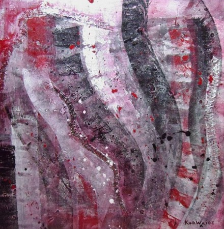 Spannend abstract painted by Kitty van der Weide