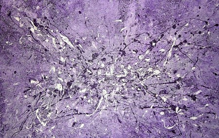 Relief abstract paars olie painted by Kitty van der Weide