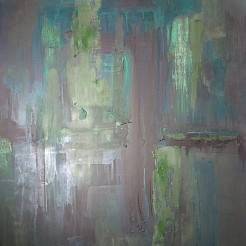 Abstract Green painted by