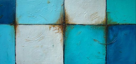 Carreaux blues painted by Patricia Tesselhoff