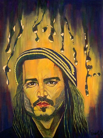 Johnny Depp painted by Tineke KvB - JustBooArt