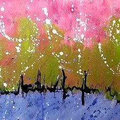 Heartbeat painted by