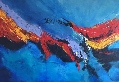 Abstract painted by Ineke Rethans