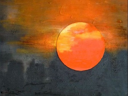 Zon painted by Irene van Uxem