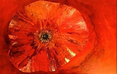 Bloem Abstract painted by Irene van Uxem