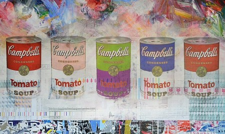 Campbells Soup painted by WVD ART