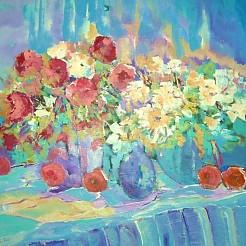 Bloemen, bloemen, bloemen painted by