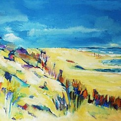 Strand painted by