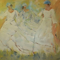 Danseressen painted by