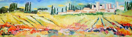 Toscane painted by Loes Loe-sei Beks