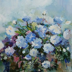 Bloemen painted by
