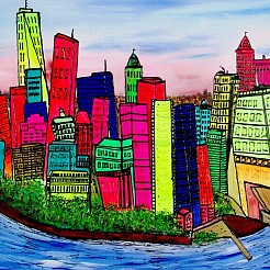 New YOrk, Manhattan painted by