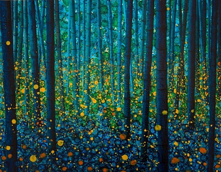 Fireflies painted by Db Waterman