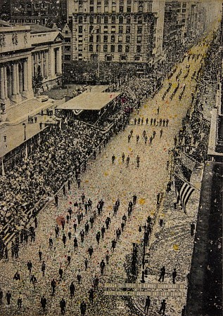 Fifth avenue, 65.000 marchers painted by Db Waterman