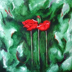Poppies painted by