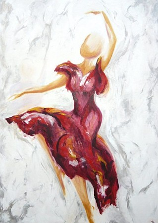 Flamenco painted by Elra Heus