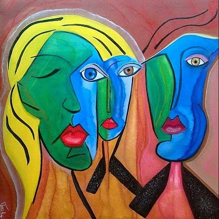 Two against one painted by Tineke Wilgenburg