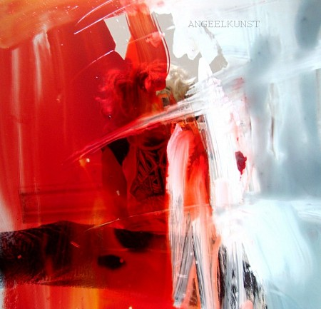 Selfie in red painted by Angelika Poels