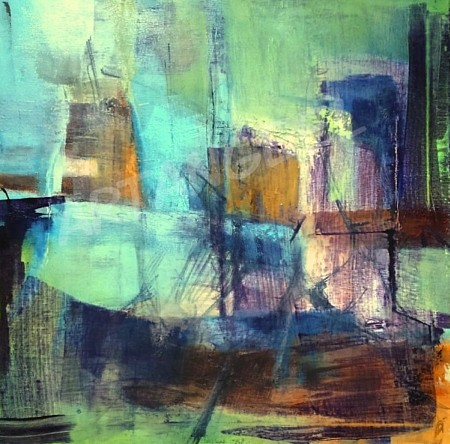 The harbour painted by Angelika Poels
