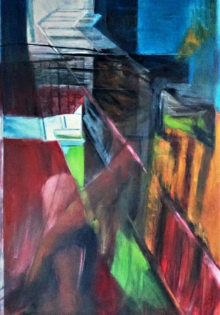 Abstract selfie painted by Angelika Poels