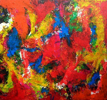 Abstract painted by Hasto Stortelder