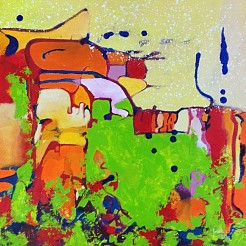 Landscape 1 serie 4 painted by