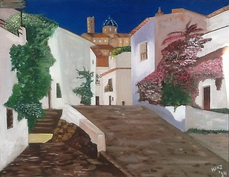Altea casco antiquo painted by Hans Looy