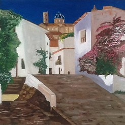 Altea casco antiquo painted by
