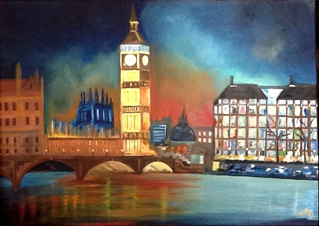 London painted by Hans Looy