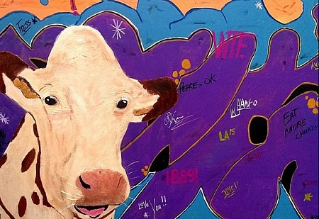 Urban cow painted by Aat Kuijpers