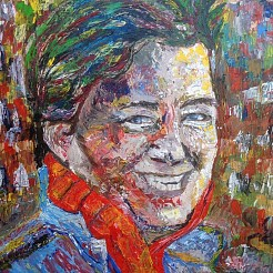 Mijn painted by