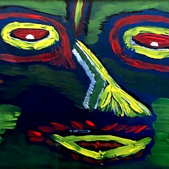 Monster painted by