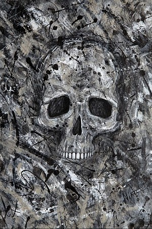 Skull painted by Nika