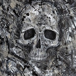 Skull painted by