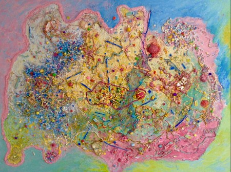 Totaal abstract painted by Anita art nondual