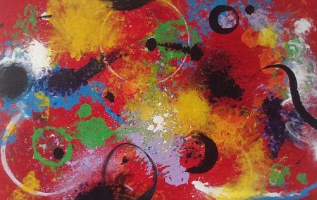 Abstract painted by Anita art nondual