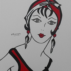 Art Deco Portret painted by