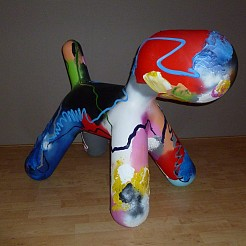 Pup Art  XL painted by