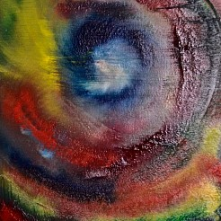 Abstract  oog painted by