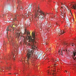 Abstract painted by