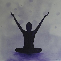 Yoga art 6 painted by