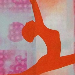 Yoga art 8 painted by